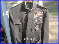 WWII thru Korean War USMC Colonels Dress Blue Uniform With Ribbons and Insignia