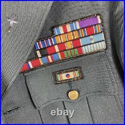 WWII uniform of Chaplain Lt. Col Michael Cargilia Silv Star Korean War 2nd Inf