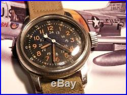 Waltham Mig Alley A-17, Korean War possible Mens USAF military pilots wristwatch