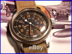 Waltham Mig Alley A-17, Korean War possible Mens USAF military pilots wristwatch