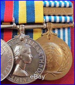 Ww2 & Korean War British Army Medal Group Of 7 To Royal Artillery