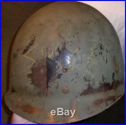 Ww2 Korean War M1 Combat Helmet With Liner Dated 1950's