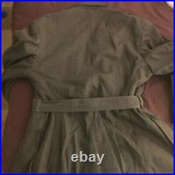 Ww2 Korean War Usmc Em Wool Belted Jacket Named Large Size 42 Long