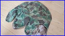 Ww2 Korean War Usmc Marine Corps M1 Helmet Frogskin Camo Cover Original