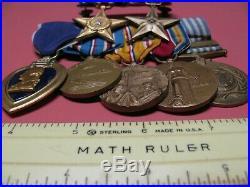 Ww2 Korean War Veterans Dress Medal Grouping Nice