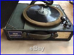Ww2-korean War Era Mechanical Field Phonograph-hand Crank-model 9c-victrola