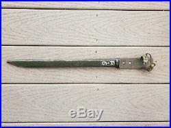 Wwii Japanese Arisaka Bayonet Early Korean War (kokura) U. S. Arsenal Paint Rare