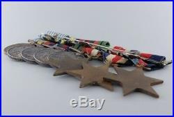 Wwii Korean War Lot Of 8 Medal Colin F. Mcdonald Royal Canadian Artillery Ww2