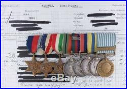 Wwii Korean War Lot Of 8 Medal Colin F. Mcdonald Royal Canadian Artillery Ww2