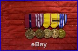 Wwii & Korean War Medals & Ribbons & Insignia To Sgt Maj Bethea MC Mullan Usmc