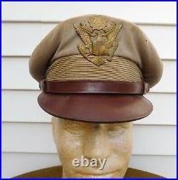 Wwii Korean War U. S. Army Lt. Colonel Group Visor Caps & Boots Pearl Harbor