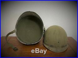 Wwii / Korean War Us M1 Front Seam Helmet Soldered Captain Bars
