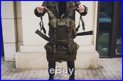 Wwii Korean War Vietnam Us Army M1945 Backpack Set Combat Pistol Belt Suspender