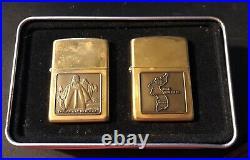 Zippo Gift Set Korean War Lighters (2 Pieces) Emblem Design