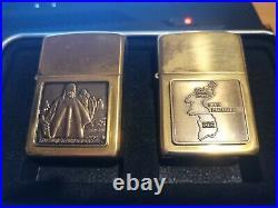 Zippo Korean War Veterans new in tin 2 Lighters